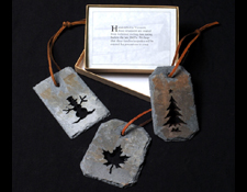 Collection of slate ornaments