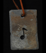 music note slate ornament